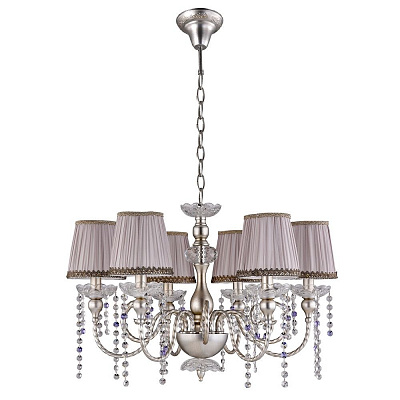 Подвесная люстра Crystal Lux Alegria SP6 Silver-Brown наличие в #REGION_NAME_DECLINE_PP#